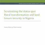 New Publication Announcement: NSSP Working Paper on Rural Transformation and Land Tenure Security in Nigeria