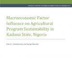 New NSSP Working Paper measures the degree to which a change in key macroeconomic variables influences the ability for state ministries of agriculture to sustain agricultural program funding
