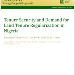 New Publication: Tenure Security and Demand for Land Tenure Regularization in Nigeria