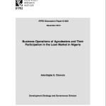 New Publication: Business Operations of Agrodealers and their Participation in the Loan Market in Nigeria