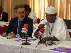 Professor Yusuf Abubakar, Executive Secretary of the Agricultural Research Council of Nigeria, giving his remarks at the Workshop Organized by APRNet. 2016 (c) Photo Credits Elisabeth Douglas