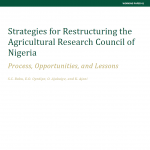 New Publication Announcement: NSSP Working Paper on Strengthening the Nigerian Agricultural Research System