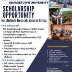 Georgetown University Sub-Saharan Africa Scholarship