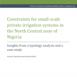 New Publication Announcement: NSSP Working Paper No. 47 Explores Private Sector Irrigation Schemes in Nigeria